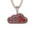 New SoundCloud Custom Design Bling Music Rapper Pendant