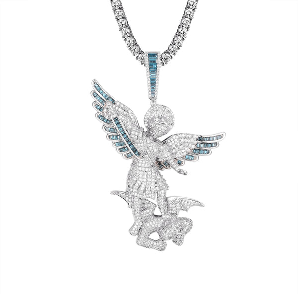 San Miguel Archangel Saint Michael Praying Pendant