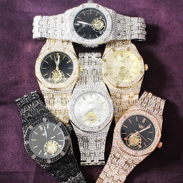 Techno Pave Fully Iced Out Presidential Look 41MM Watch