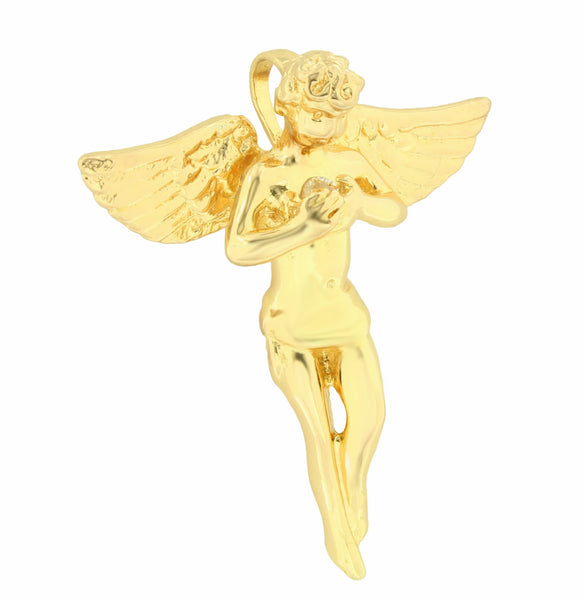 Angel Piece Pendant 18K Gold Layered Charm