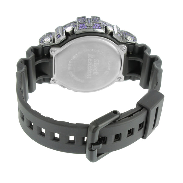 Mens G-Shock Watch Purple Lab Diamonds DW 6900  Silicone Band