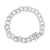 Lab Diamond Iced Miami Cuban Link 14k Gold Finish Bracelet
