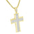 Gold Finish Jesus Cross Pendant Charm Stainless Steel Franco Necklace Charm