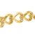 Womens Heart Shape Link Bracelet Sterling Silver Yellow Gold Finish Iced Out