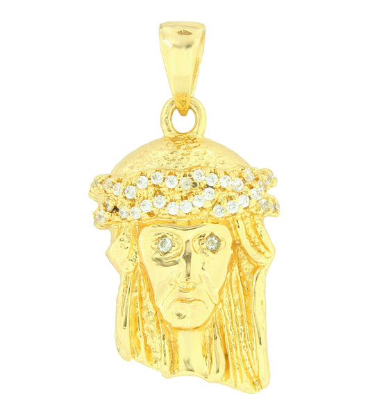 Jesus Face Pendant Charm 18K Gold Layer