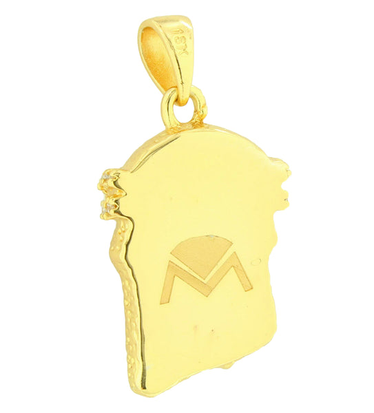Mini Jesus Pendant 18K Gold Layered Franco Necklace