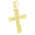 14k Gold Finish Cross Pendant Micro Pave Elegant Charm Mens