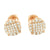 Rose Gold Finish Earrings Screw Backs 8 MM Round