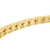 Gold Finish Bracelet Square Link Sterling Silver 925