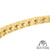 14k Gold Tone Sterling Silver Ladies Lab Diamond Bracelet