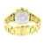 Yellow Gold Finish Watch Mens Stainless Steel Back