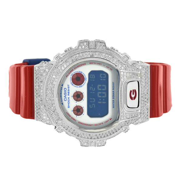 G-Shock Watch Custom DW6900AC-2DR Red Glossy Strap Digital