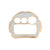 Face Plate DW6900 Simulated Stones Rose Finish