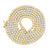 Yellow Gold Finish Lab Diamond Tennis Link Mens 925 Silver Chain