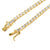 Yellow Gold Finish 36In Tennis Link Mens 925 Silver Chain