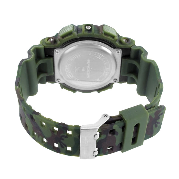 Army Military Camouflage Green Digital Time Watch