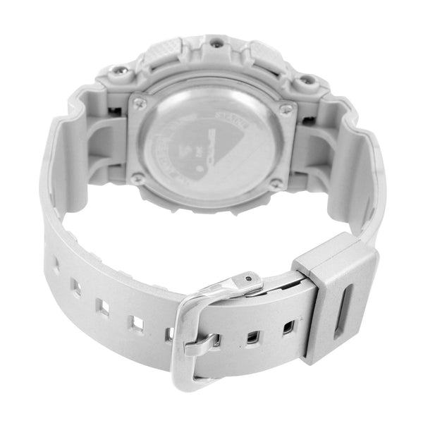 Silver Shock Watch Sports Look Analog & Digital Display