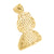 14K Gold Finish Lab Diamond Cartoon Character Flexing Pendant