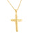 Jesus Hung Crucifix 14k Yellow Gold Finish Cross Pendant & Stainless Steel Chain