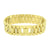 Men Stainless Steel Bracelet Presidential Link 14K Gold Finish