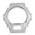 White Simulated Lab Diamond White Gold Finish G-Shock DW6900 Bezel