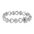 Heart Link Bracelet Sterling Silver 925 Simulated Diamonds