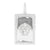 Medusa Head Rectangle Pendant Bar Design 925 Silver