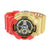 Digital Analog Watches Iron Man Red/Gold Classic Series
