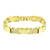 Stainless Steel Men Bracelet 14K Yellow Gold Finish