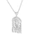 Holy Son Jesus Christ Head White Gold Tone 3D Pendant Stainless Steel Rope Chain