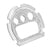 G-Shock DW6900 White Gold Finish Simulated Lab Diamond Face Plate