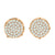 Unisex .925 Rose Gold Tone Round Earrings