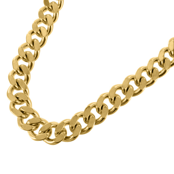 14K Yellow Gold Finish Thick 18 MM Miami Cuban Necklace