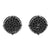 Round Black Finish Lab Diamond Earrings