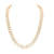 Mens 14k Rose Gold Finish Lab Diamond 2 Row Tennis Necklace