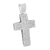White Jesus Cross Pendant Iced Out Simulated Diamonds Micro Pave