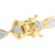 Star Marquise Link Bracelet Gold Finish Simulated Diamonds 925 Silver