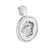 Medusa Pendant Sterling Silver White Finish