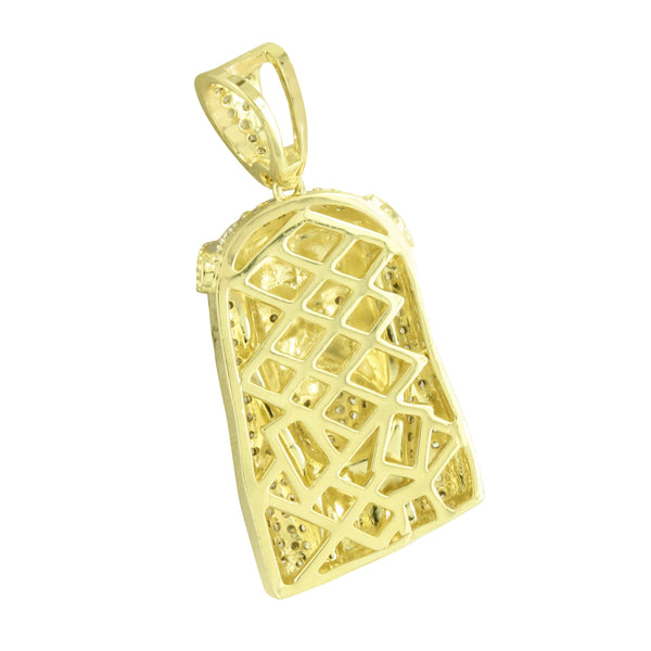 14K Gold Finish Jesus Pendant Unique Charm New