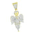 Angel Pendant 14K Yellow Gold Finish Lab Diamonds Icy