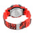 Red Military Army Camouflage Print Digital Watch Resin Band