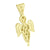 Angel Design Pendant Yellow Lab Diamonds Fully Iced Out