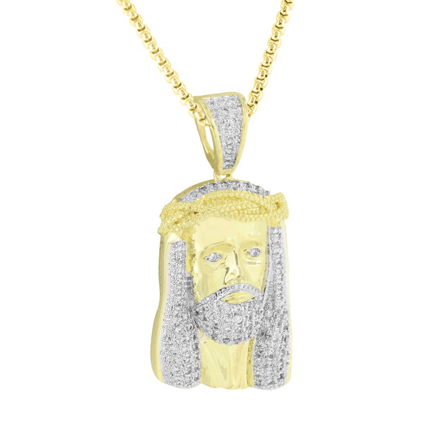 Jesus Christ Pendant Stainless Steel Box Necklace