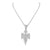 Baby Angel Lab Diamond Pendant & Steel Chain Necklace