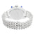 Mens Lab Diamond Cluster Iced Tray Band White Finish