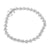 Star Link Womens Bracelet Simulated Diamonds Sterling Silver