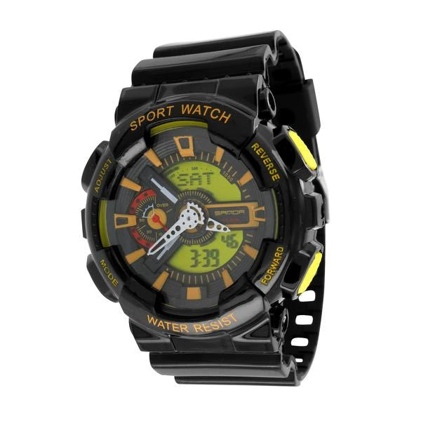 Sport Watches Orange Green Dial Shock Resistant Special Edition