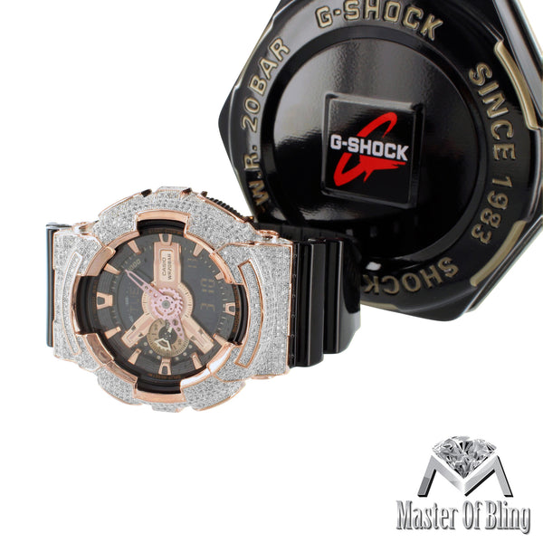 G-Shock Watch Rose Gold Finish GA110GD Digital Analog Watch