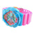 Pink Blue Shock Water Resistant Digital Watch Round Face Teen Gift