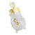 Money Bag Pendant 14k Gold Finish Dollar Cubic Zircon